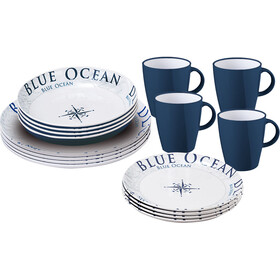 Brunner Lunch Box Set de platos, design blue ocean
